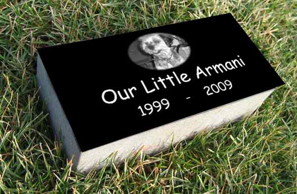 "Super Premium Black Granite Burial Markers, 4"" Thick!"