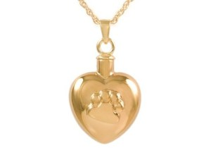 Heart With Paw Gold Pendant