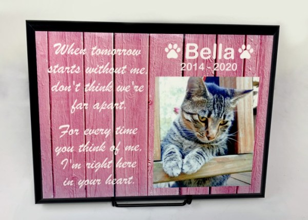 Photo Plaque, Pet Memorial Plaque