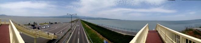 諫早湾干拓堤防道路 | パノラマ