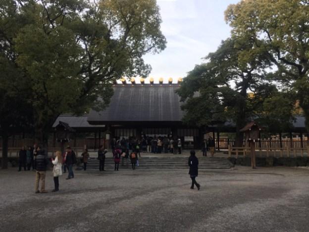 愛知県名古屋市熱田区にある熱田神宮の宮きしめんときよめ餅を食べた話