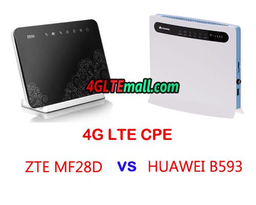 ZTE MF28D VS HUAWEI B593 4G LTE CPE WIFI ROUTER