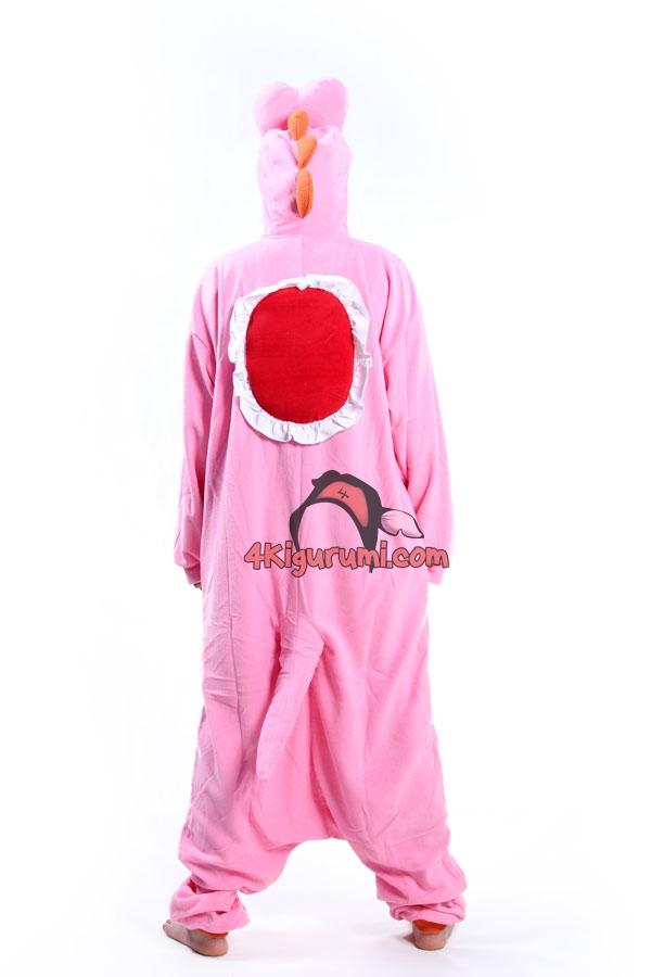 Pink Yoshi Kigurumi Super Mario Run Costume
