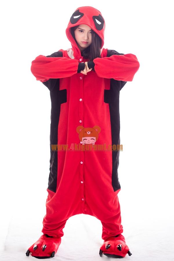 Deadpool Kigurumi Superhero Costumes