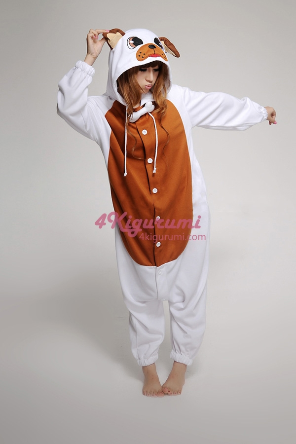 Bulldog Kigurumi Animal Onesie