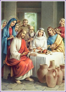 Image result for blessed virgin mary wedding feast at cana