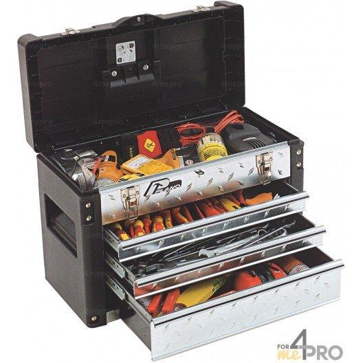 boite a outils professionnelle a tiroirs 57 x 29 x 40 6 cm