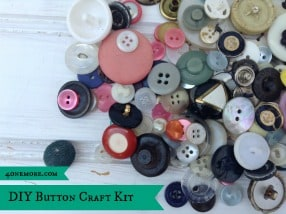 DIY Button Craft Kit for Kids