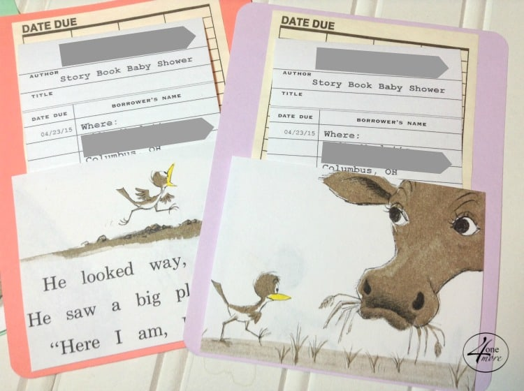 CUSTOM library card invitations by 4onemore.etsy.com