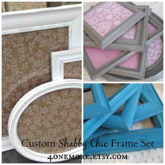 custom shabby chic frame set