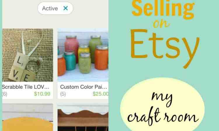 selling on etsy {my craft room}