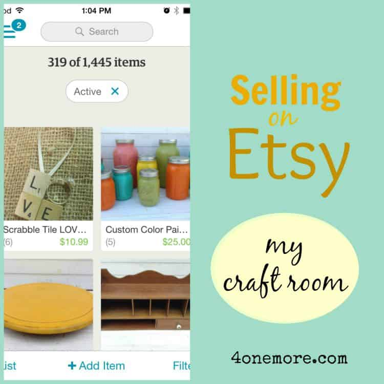 etsy series - my craft room @ 4onemore.com