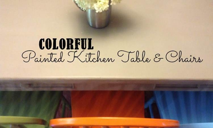 Colorful Painted Kitchen Table and Chairs