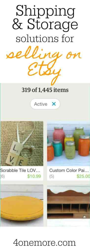 shipping & storage solutions for selling on Etsy #etsyseller