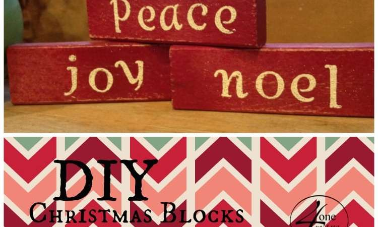 Easy DIY Christmas Blocks Gift