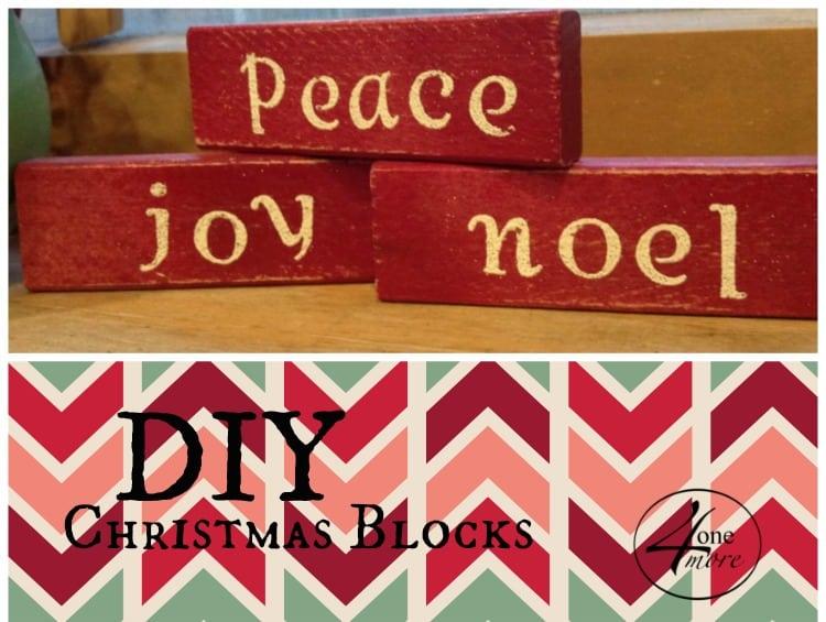 DIY Christmas blocks @4onemore.com