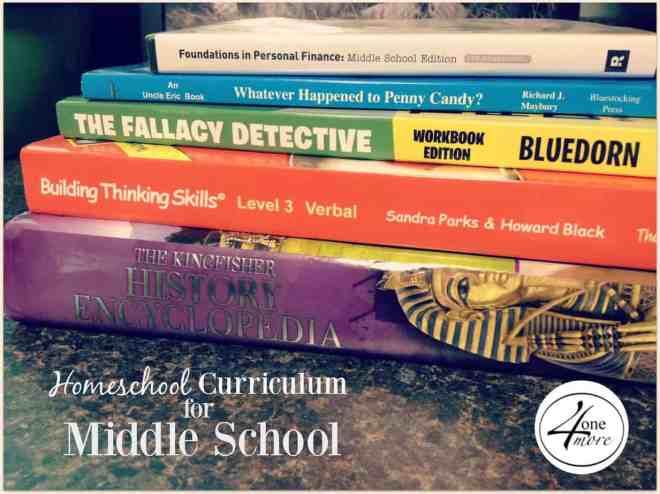 homeschool curriculum for middle school