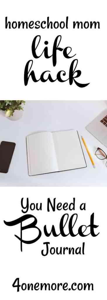 #homeschoolplanner bullet journal inspiration for homeschooling @4onemore.com