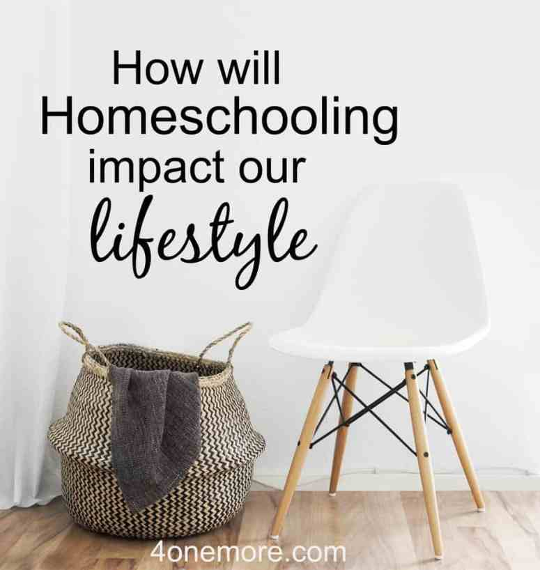 Are you considering homeschooling? Here's a candid look at how homeschooling may impact your lifestyle. Are you ready for the changes it may bring? See the video @4onemore.com