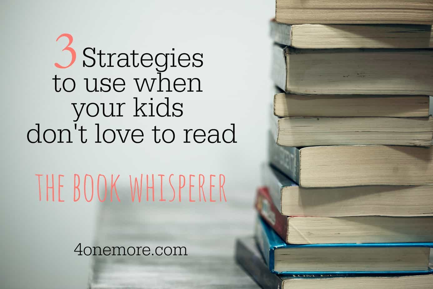 What do you do when your kids don't love to read? The Book