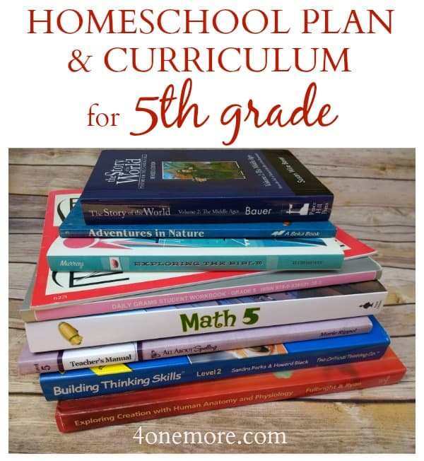 Homeschool Plan & Curriculum for 5th Grade - Homeschool with Moxie