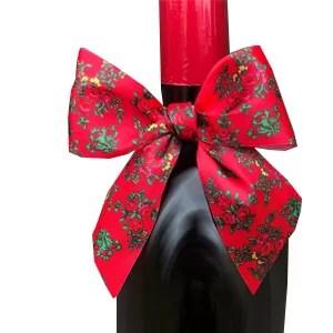 Kokardka na butelkę - Folk Góralska - Czerwona 1