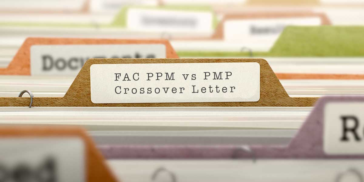 Fac Ppm Vs Pmp Crossover Letter Project Management Training