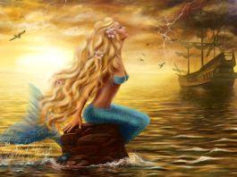 Meerjungfrau auf dem Wasser
