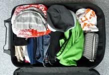 Koffer mit Kleidung