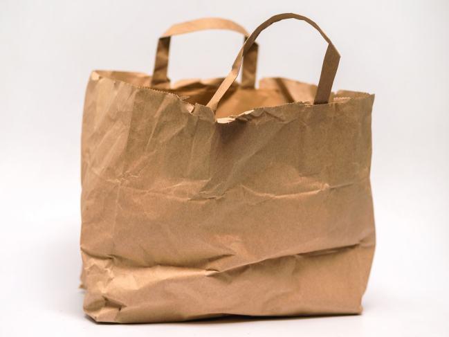 Eine Tasche aus Papier