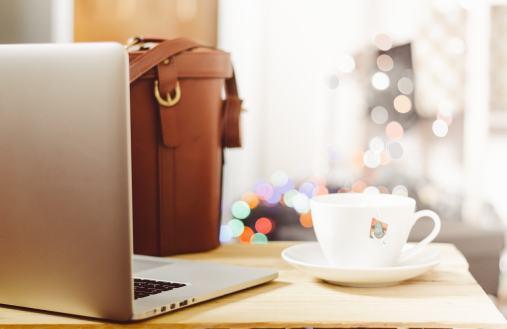 Brauner Rucksack mit Laptopfach