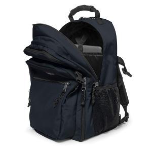 geöffneter schwarzer Rucksack