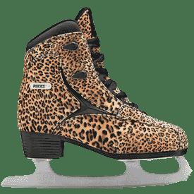 schlittschuhe im leopardenlook für frauen