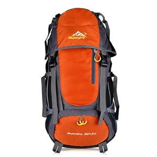 Orangener Trekkingrucksack