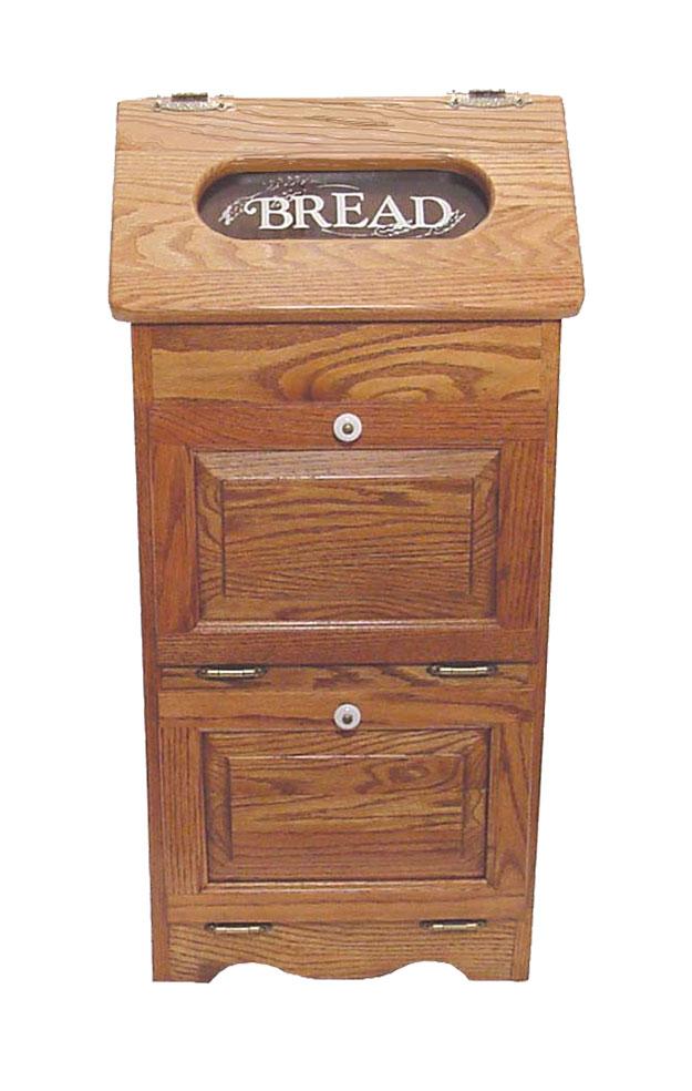 Amish Made Potato Bin With Bread Box