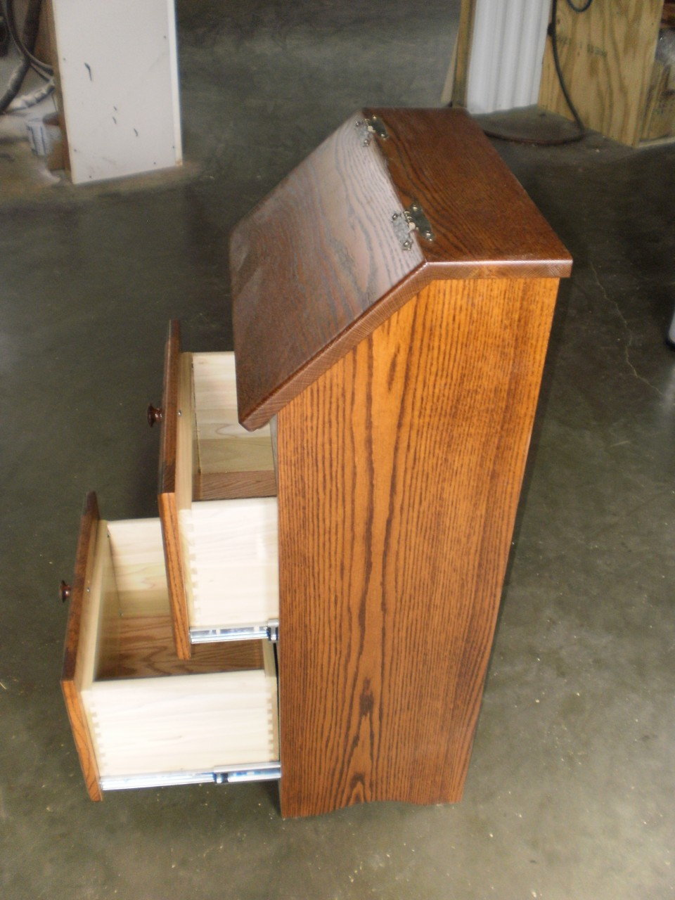 Amish Made Wooden Potato Bin With Drawers Four Seasons