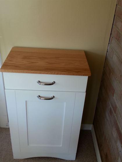 Solid Wood 2 Tone Tilt Out Trash Bin