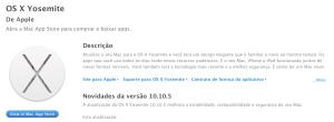 OS X Yosemite - 10.10.5 - Detalhes