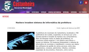 site prefeitura castanheira