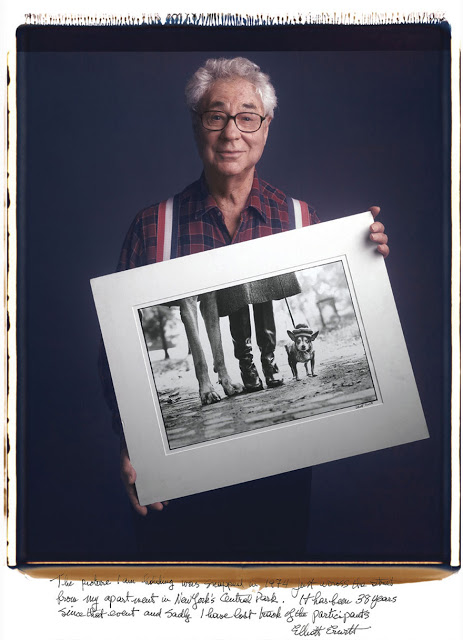 Elliott Erwitt: The picture I am holding was snapped in 1974 just across the street from my apartment in New York's Central Park. It has been 38 years since that event and sadly I have lost track of the participants.