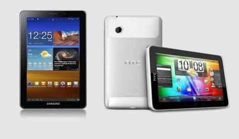 Планшет Samsung Galaxy Tab 7.7 против HTC Flyer