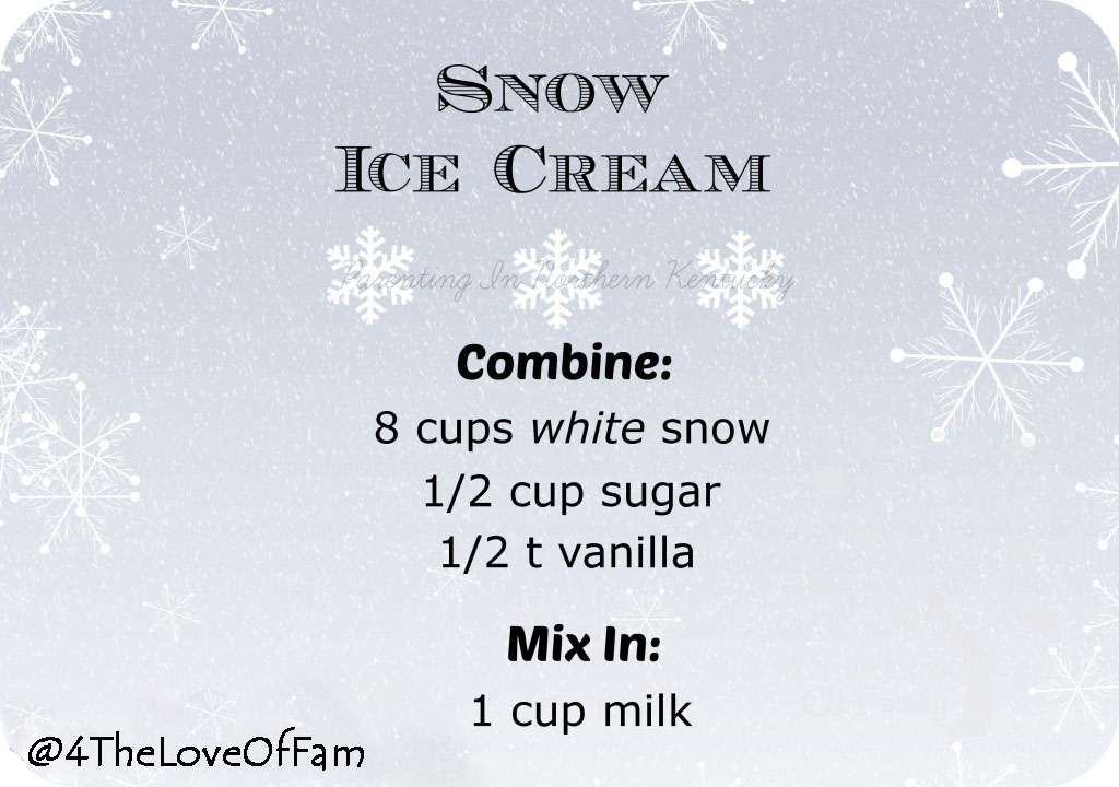 4 The Love Of Family ~ How to make Snow Ice Cream Recipe - SAVE THIS!!