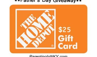 The Fantastic Father Giveaway * $25 Home Depot Gift Card