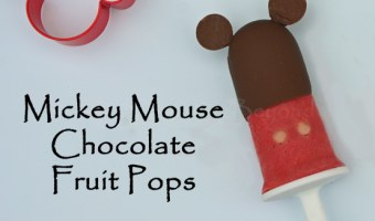 Mickey Mouse Chocolate Fruit Pops Popsicles  #Disney #Zoku