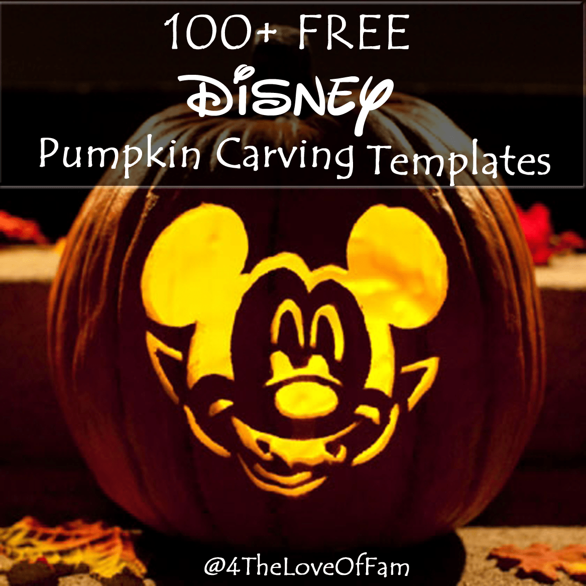 100+ FREE Disney Halloween Pumpkin Carving Stencil Templates w ...
