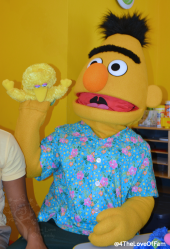 You can make puppets with Bert & Ernie at Beaches Resorts!