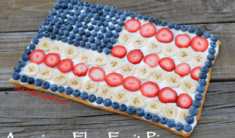 American Flag Fruit Pizza