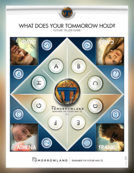 Fun Family Activity for TOMORROWLAND: A Disney Fan MUST! Fortune teller