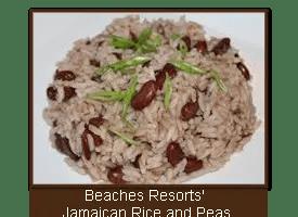 Beaches Resorts' Jamaican Rice and Peas (Beans)