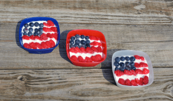 Individual Frozen Patriotic Flag Dessert Recipe